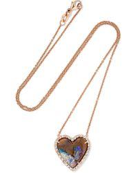 Kimberly Mcdonald - Metallic 18-karat Rose Gold, Opal And Diamond Necklace - Lyst