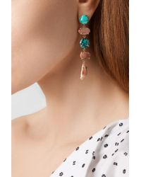 Melissa Joy Manning - Blue 14-karat Gold, Agate And Turquoise Earrings - Lyst