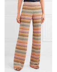 Missoni - Multicolor Metallic Crochet-knit Wide-leg Pants - Lyst