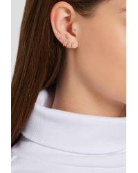 Maria Tash - Metallic Mini 18-karat Rose Gold Diamond Earring - Lyst