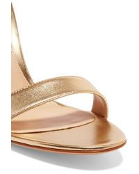 Gianvito Rossi - Portofino Metallic Leather Sandals - Lyst