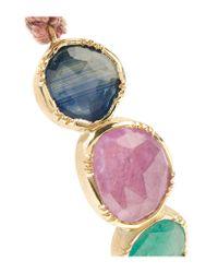 Brooke Gregson | Metallic Triple Orbit 18-karat Gold, Emerald And Sapphire Bracelet | Lyst