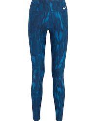 Nike - Blue Power Legendary Dri-fit Leggings - Lyst