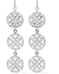 Loree Rodkin   Multicolor 18-karat White Gold Diamond Earrings   Lyst