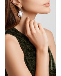 Kimberly Mcdonald - Metallic 18-karat Blackened White Gold, Freshwater Pearl And Diamond Earrings - Lyst