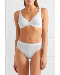 Hanro - White Stretch-cotton Jersey Soft-cup Bra - Lyst