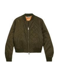 Vince | Green Quilted Shell Bomber Jacket | Lyst