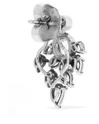 Fred Leighton - Metallic Collection 18-karat White Gold Diamond Earrings - Lyst