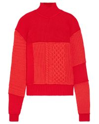 McQ Alexander McQueen - Red Wool And Cashmere-blend Turtleneck Sweater - Lyst