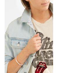 Monica Vinader - Multicolor Linear Bead Rose Gold Vermeil And Woven Bracelet - Lyst