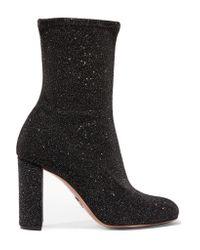 Oscar Tiye - Black Giorgia Velvet Shine Boot - Lyst