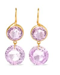 Marie-hélène De Taillac | Metallic 18-karat Gold Amethyst Earrings | Lyst