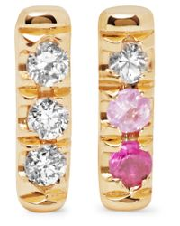 Jennie Kwon - Metallic 14-karat Gold, Diamond And Sapphire Earrings - Lyst