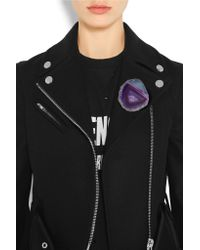 Givenchy - Purple Stone Brooch - Lyst