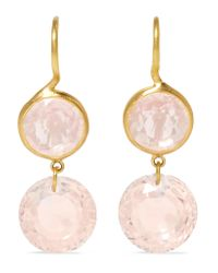 Marie-hélène De Taillac - Metallic 18-karat Gold Quartz Earrings - Lyst