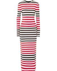 Norma Kamali - Red Spliced Dress - Lyst