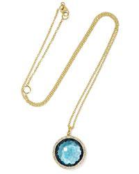 Ippolita - Metallic Rock Candy Lollipop 18-karat Gold, Topaz And Diamond Necklace - Lyst