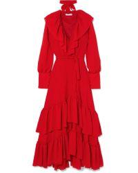 Rejina Pyo - Renata Tiered Crinkled-crepe Maxi Dress - Lyst