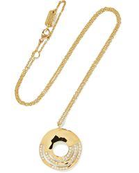 Ippolita - Metallic Senso 18-karat Gold Diamond Necklace - Lyst