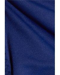 Eberjey - Blue So Solid Dakota And Avalon Ruffled Triangle Bikini - Lyst