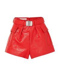 Philosophy Di Lorenzo Serafini - Red Leather Shorts - Lyst