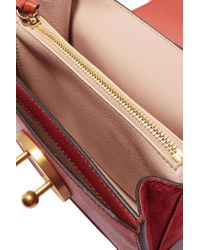 Chloé | Mily Small Textured-Leather And Suede Shoulder Bag | Lyst