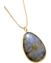 Pippa Small - Metallic 18-karat Gold Labradorite Necklace - Lyst