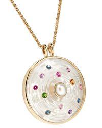 Noor Fares - Metallic Akasha 18-karat Gray Gold Multi-stone Necklace - Lyst