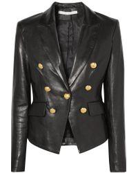 Veronica Beard - Black Blazer Cooke en cuir - Lyst