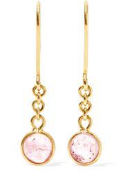 Pippa Small - Metallic Rain Drop 18-karat Gold Tourmaline Earrings - Lyst
