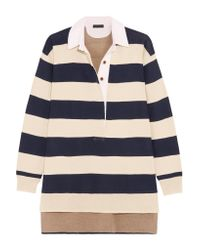 J.Crew - Blue Garret Oversized Striped Merino Wool Polo Top - Lyst