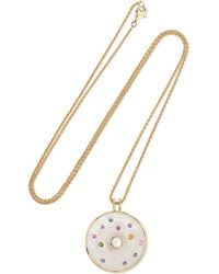 Noor Fares - Metallic Akasha 18-karat Gray Gold Multi-stone Necklace - Lyst
