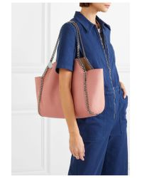 Stella McCartney - Pink The Falabella Medium Reversible Faux Brushed-leather Tote - Lyst