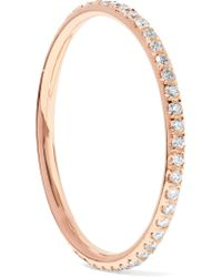 Ileana Makri - Metallic Thread 18-karat Rose Gold Diamond Eternity Ring - Lyst