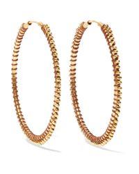 Chan Luu - Metallic Gold-tone Enameled Hoop Earrings - Lyst