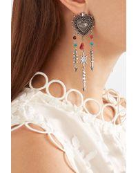 Valentino - Metallic Silver-tone Beaded Earrings - Lyst