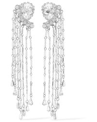 Erickson Beamon | Metallic Paper Cranes Silver-tone Crystal And Bead Earrings | Lyst