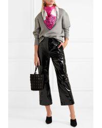 Loewe Pink Anagram Color-block Silk-twill Scarf