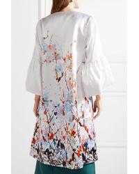 Merchant Archive | White Printed Duchesse-satin Coat | Lyst