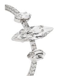 Miu Miu - Metallic Silver-tone Crystal Clip Earrings - Lyst