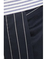Thom Browne - Blue Patchwork Striped Wool-blend Seersucker And Twill Tapered Pants - Lyst