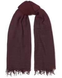 Chan Luu - Purple Fringed Ombré Cashmere And Silk-blend Scarf - Lyst