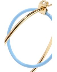 Elizabeth and James - Metallic Renee Gold-plated Acetate Hoop Earrings - Lyst