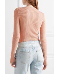 Tuxe Bodywear - Multicolor Pacesetter Metallic Ribbed-knit Bodysuit - Lyst