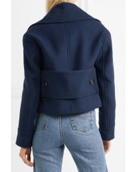 Golden Goose Deluxe Brand | Blue Ména Cropped Wool Jacket | Lyst