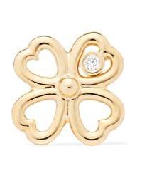 Aurelie Bidermann | Metallic Merveilles Gold Diamond Earring | Lyst