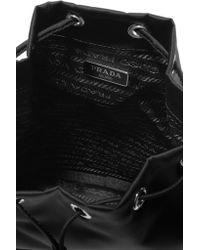 Prada   Black Vela Leather-trimmed Shell Cosmetics Case   Lyst