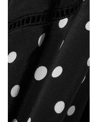 We Are Leone - Black Polka-dot Silk Crepe De Chine Robe - Lyst