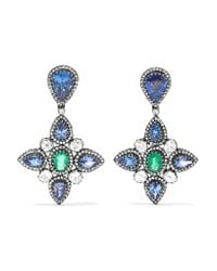 Amrapali - Blue 18-karat Gold, Sterling Silver And Multi-stone Earrings - Lyst
