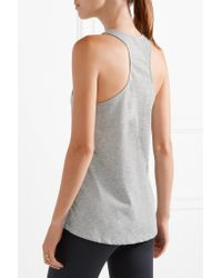 The Upside | Gray Issy Printed Jersey Tank | Lyst
